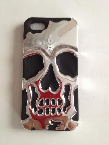 Skull cap Iphone5 hybrid protective cover