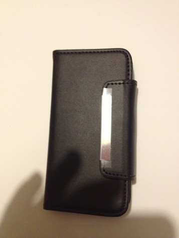 Iphone5 black book-style my jacket wallet protectiv cover