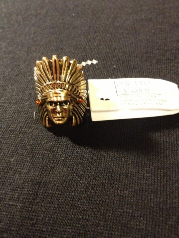 Fashion Jewelry Unisex Indian Chief Ring.
