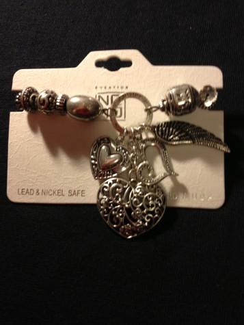 Heart Shape Charm Bracelet Antique Style