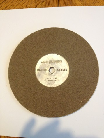 "Sears Craftsman Joint Sanding 8"" Wheel.92274"