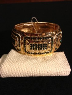 Gold Tone Hammed Style with